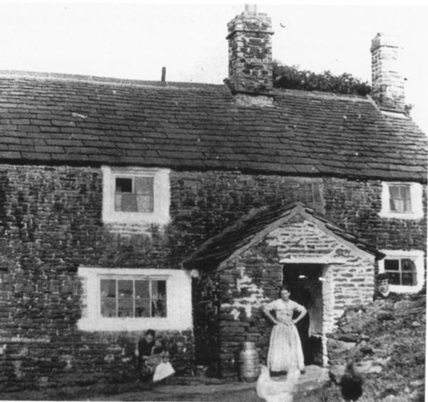 Old Rachel's, with Rachel Evans at the door in circa 1880.