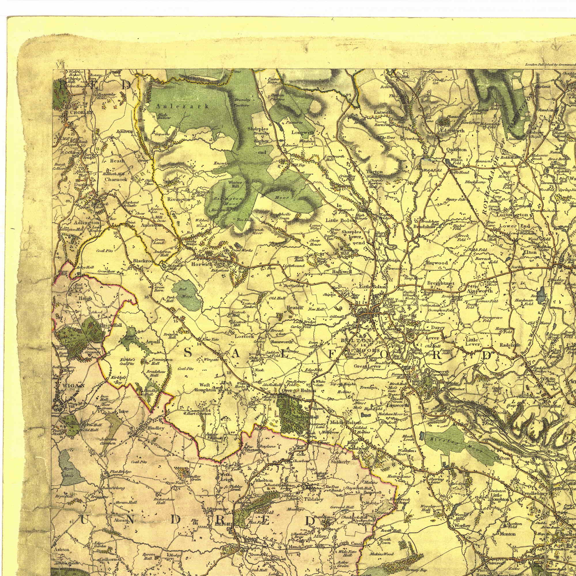 Chris and John Greenwood mapped the UK during the 1820's to a very high standard.