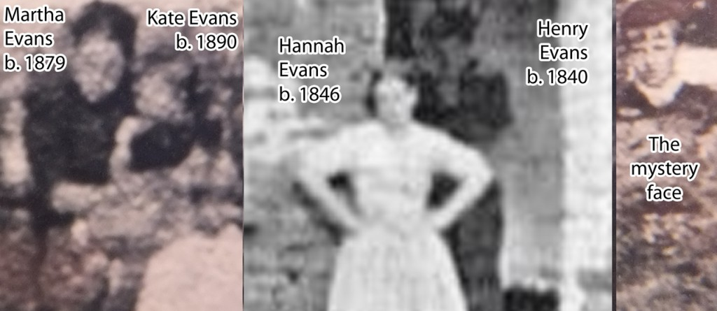 The Evans family - thanks to Brian Kille for the alternate image of Old Rachel's that he provided me with which shows the figure behind Hannah more clearly.