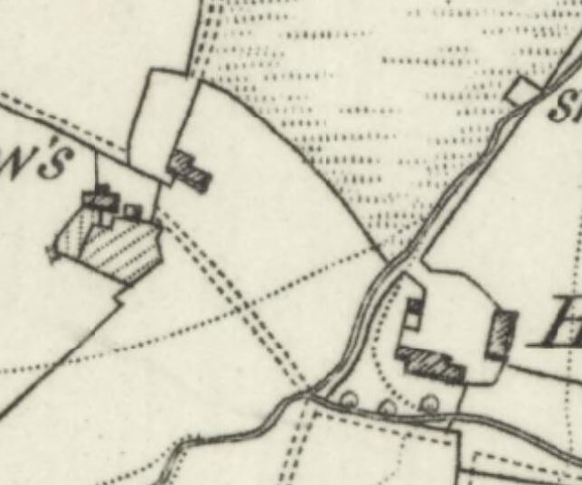 A closer view of the two farms.